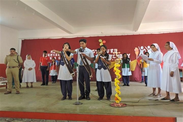 Auxilium English Medium School-Investiture Ceremony