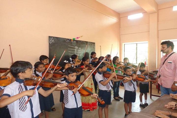 Nirmal Hrudaya E M School-Music class