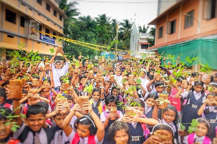 Nirmal Hrudaya E M School-Plantations