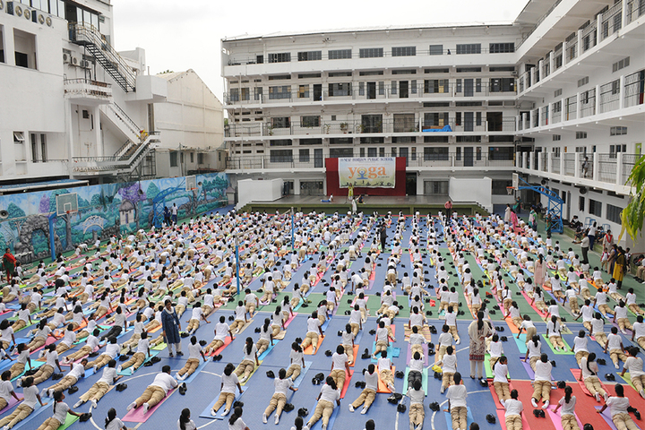 New Horizon Public School-Yoga Day