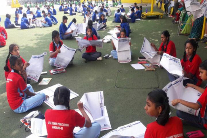 Little Flower Public School-News Paper Reading