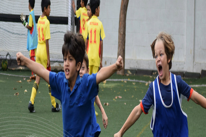 Students Playing in Ground
