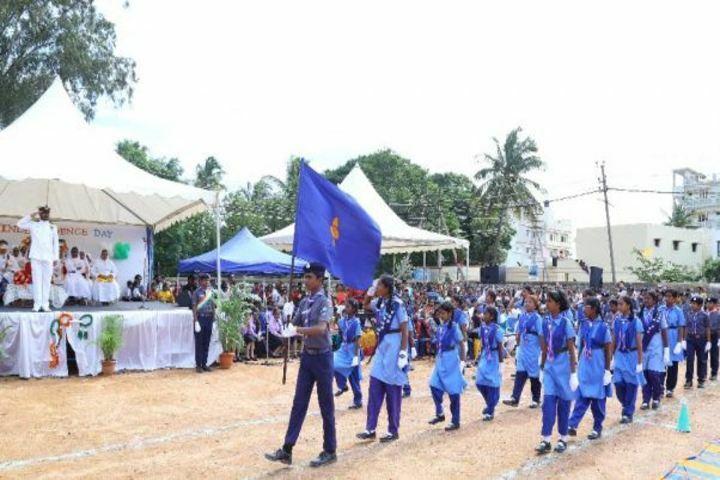 Auxilium School-March Past