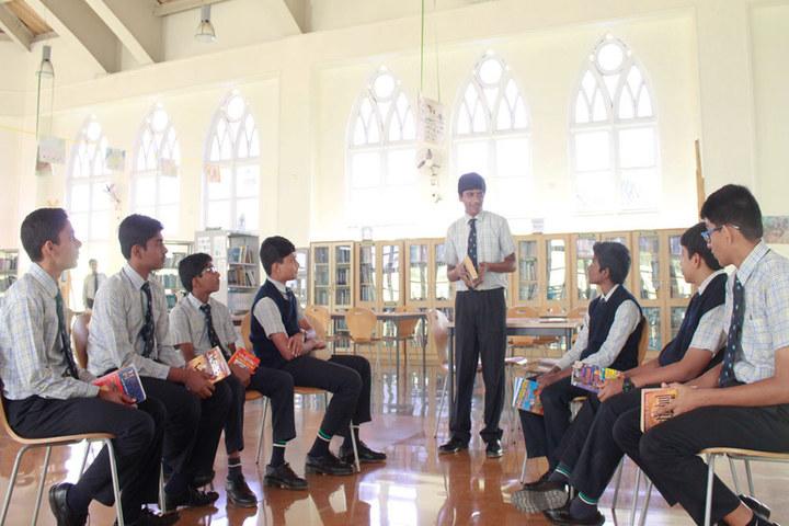 Sarala Birla Academy-Students in Library