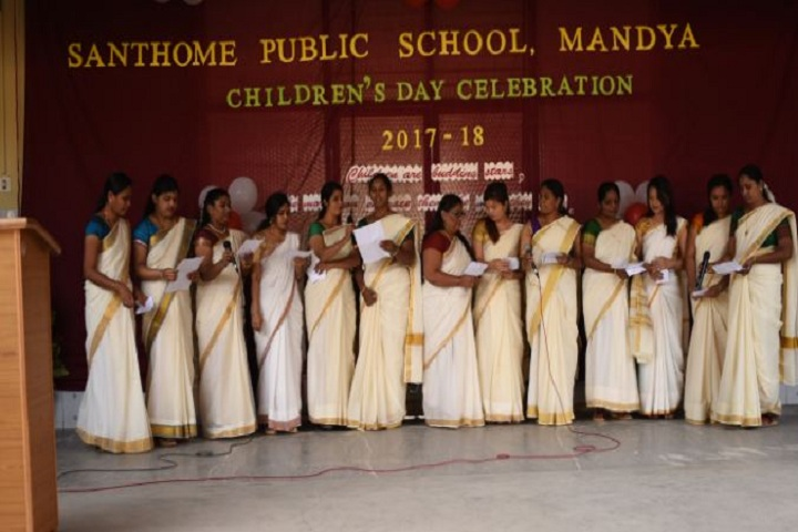 Santhome Public School-Childrens Day Celebrations