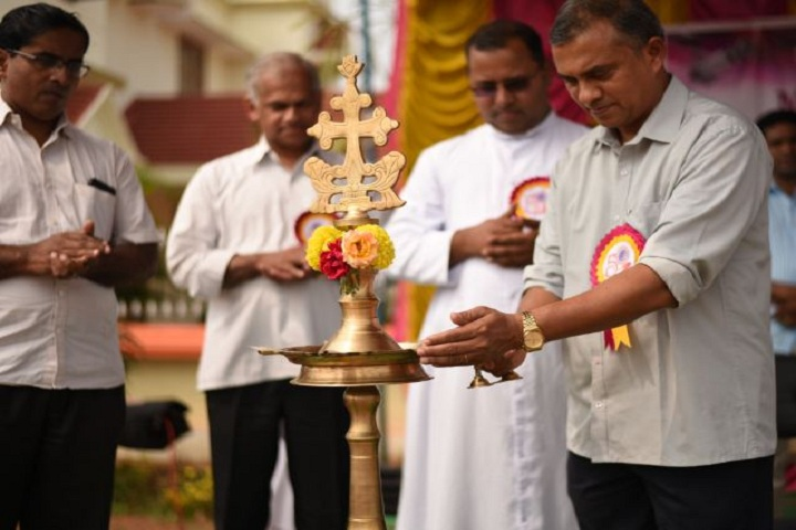 Santhome Public School-Lighting the lamp