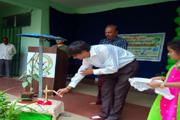 Gnanodaya Public School-Lighting the lamp