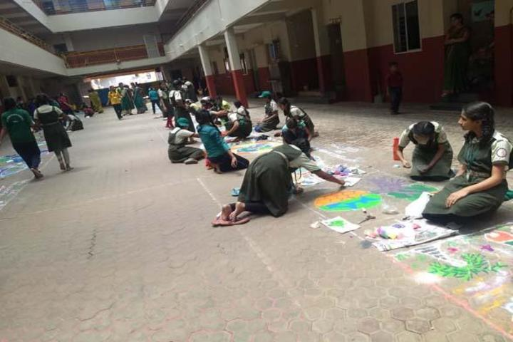 Oriental Primary And High School-Rangoli Competition