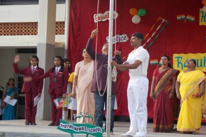 Jyothi Nivas School-Flag Hosting