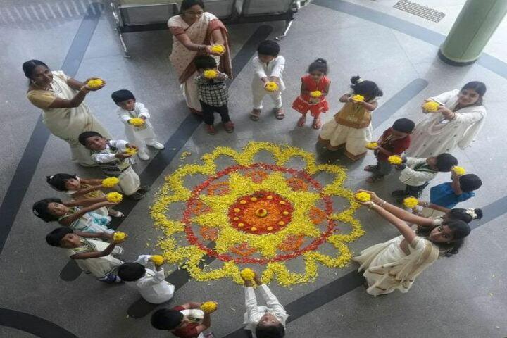 Citizens English School-Flower Rangoli