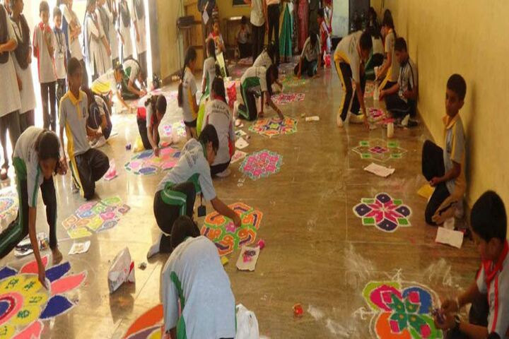 Beena Vaidya International Public School-Rangoli Making