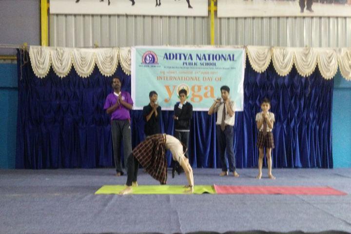 Aditya National Public School-Yoga Day