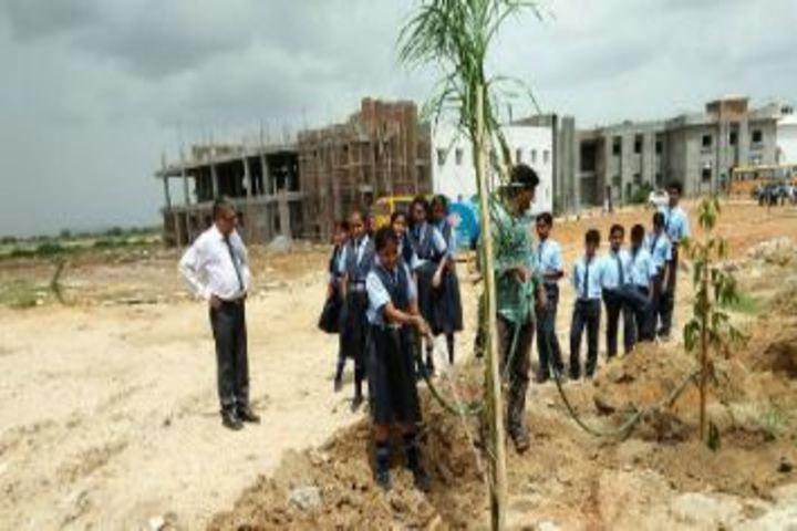 Aryabhatta International Academy-Tree Plantation