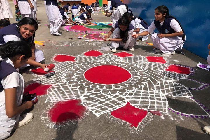 Holy Cross Ashram School-Rangoli COmpetetion