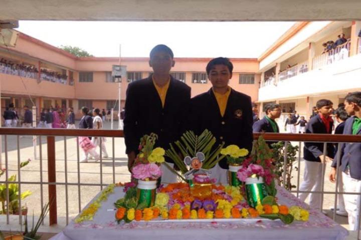 Dav Public School-Flower and Rangoli Decoration