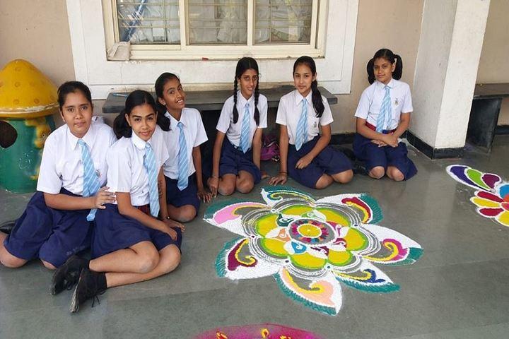 Barnes School and Junior College-Rangoli