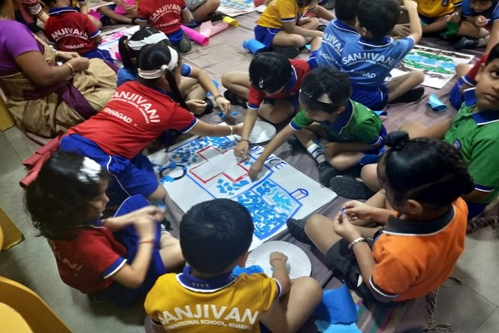 Sanjivani International School-Drawing Activity