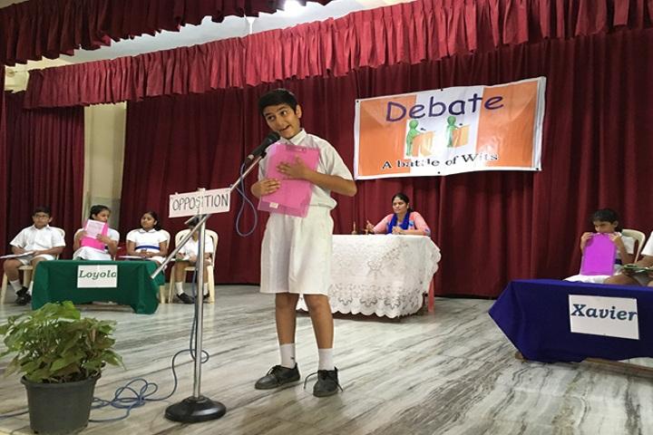 St Xaviers English Medium School-Debate competition