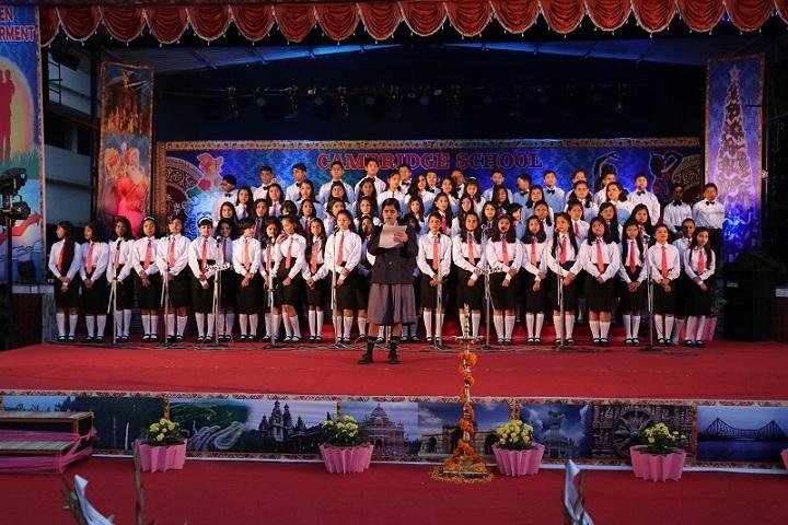 Cambridge School-Group singing