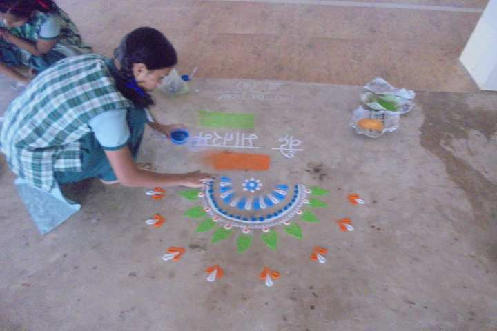 Carmel School-Rangoli
