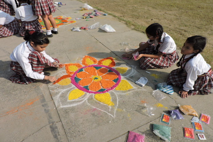 St Josephs Convent School-Rangoli Competition