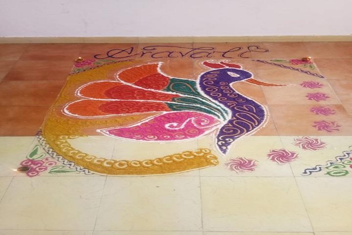 Indo Swiss International Convent School-Rangoli