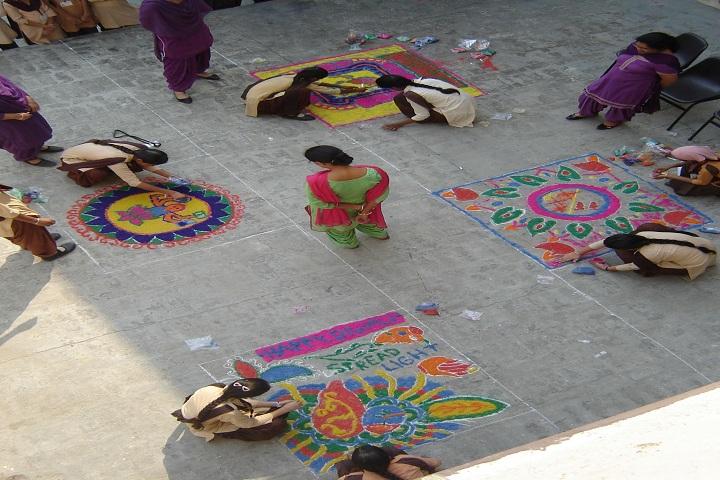 Jogindra Convent School-Rangoli