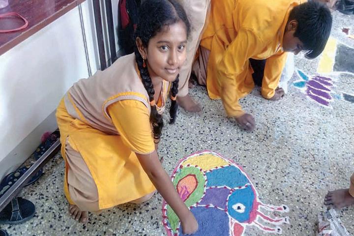 The Ashram-Rangoli Competition