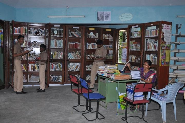 Idhayam Rajendran Residential School-Library