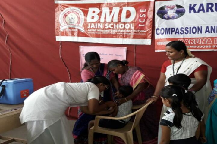 Bhagwan Mahaveer Dayaniketan Jain School-Medical Camp