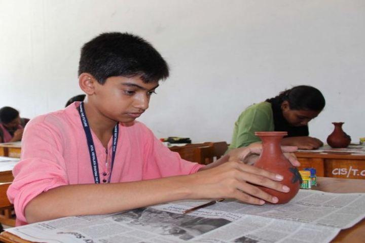 Comorin International School-Pot Painting