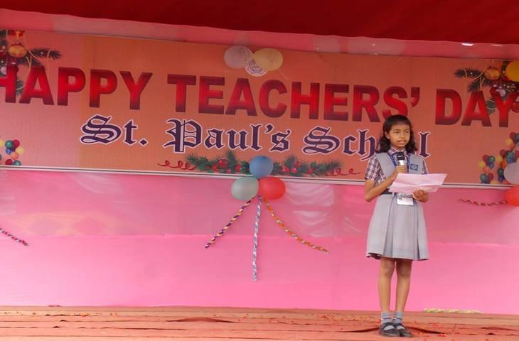 St Pauls School-Teachers day