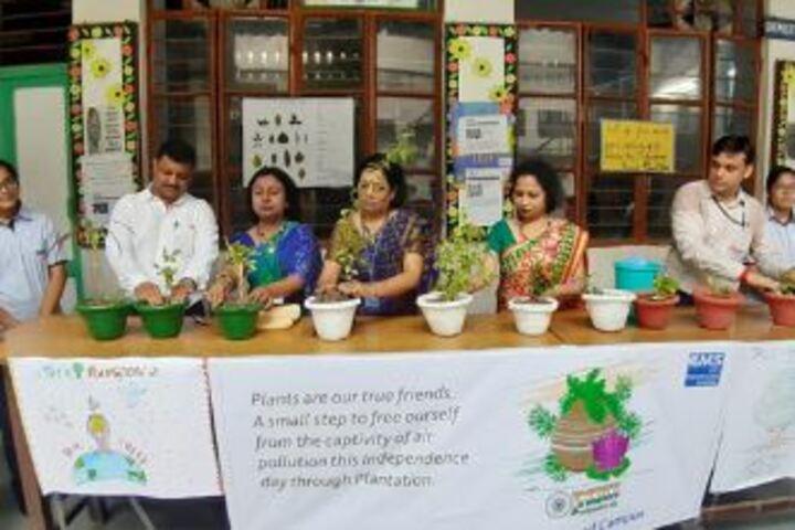 City Montessori Inter College-Tree Plantation