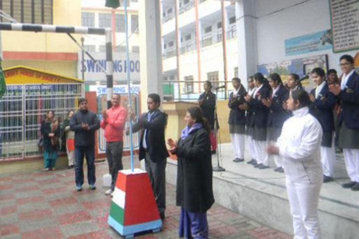 City Montessori Inter College-Flag Hoisting