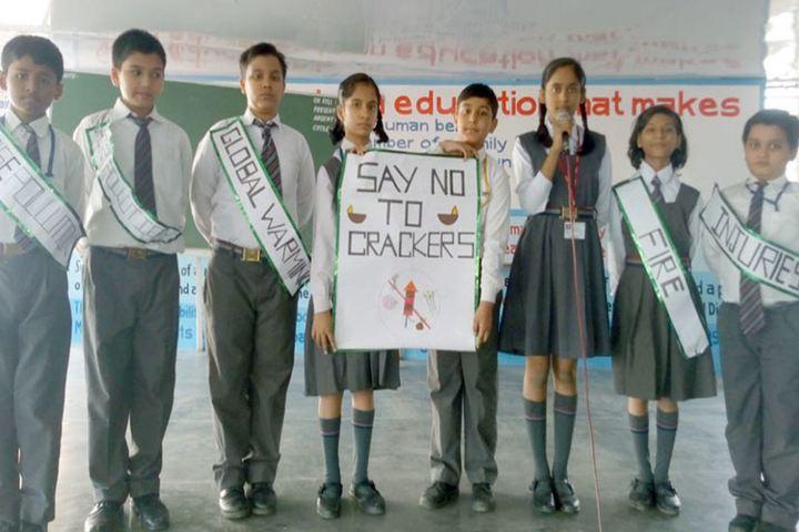 City Montessori Inter College-Presentation on Say No to Crackers