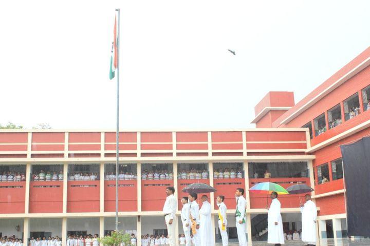 St Johns School-Flag Hoisting