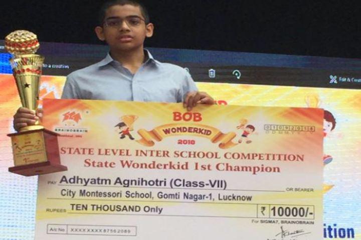 City Montessori Inter College-State Wonder Kid Champion