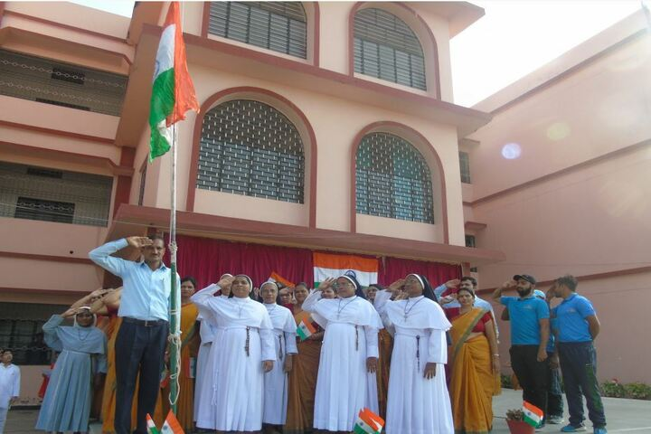 Christu Jyoti Convent School-Flag Hoisting