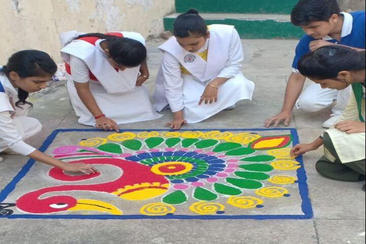 Bishop George School-Rangoli Competetion