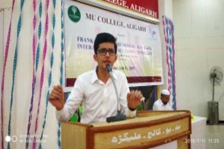 M U College-Speech