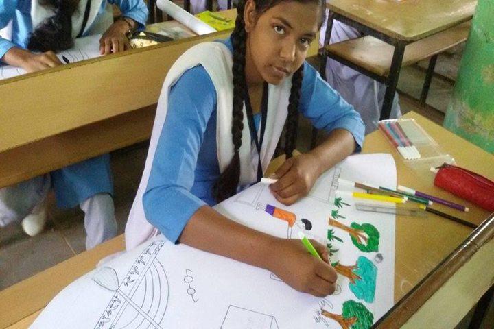 Govt Girls Higher Sec School Raipur-Drawing Competition