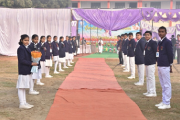 St Pushpa Senior Secondary School-Welcoming Guest