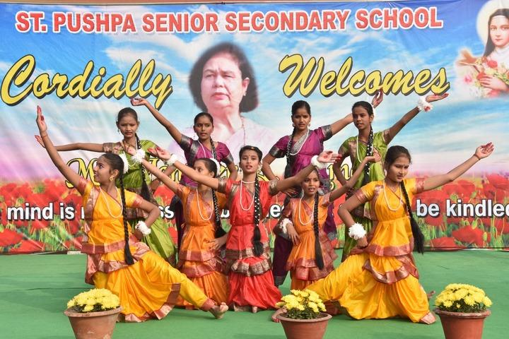 St Pushpa Senior Secondary School-Welcome Dance