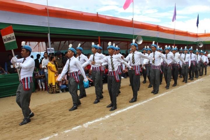 Himali Boarding School-March Past