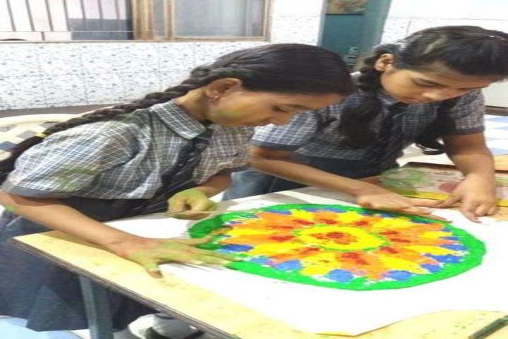 St Dominic Savio School-Rangoli