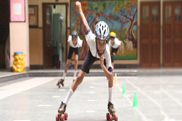 M C Kejriwal Vidyapeeth-Skating Activity