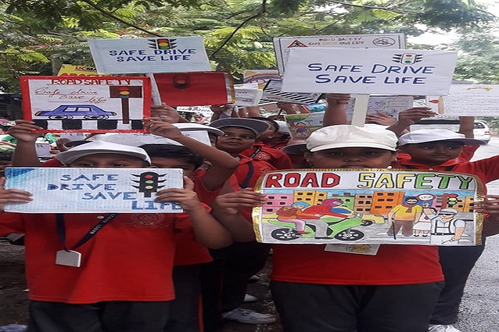 Lions Calcutta Greater Vidya Mandir-Road safety activities