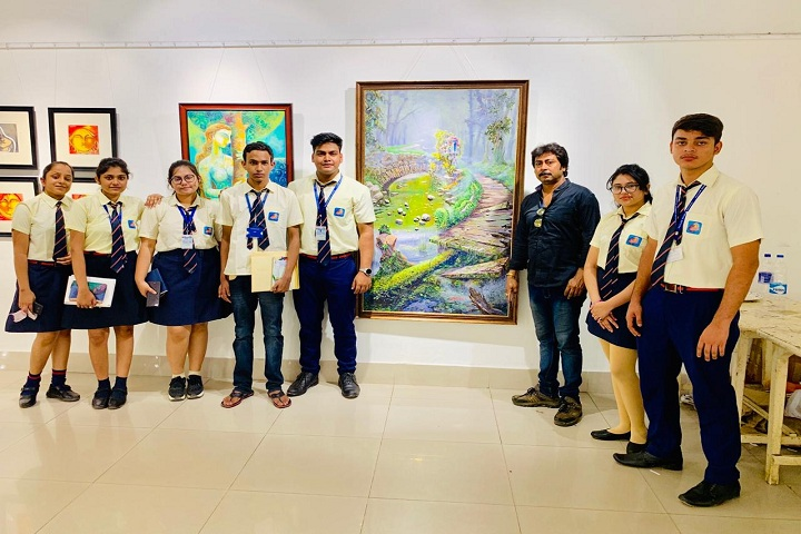 Pailan World School-Art exhibition