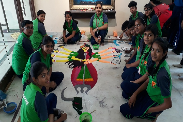 Divine Mercy School-Rangoli Competition