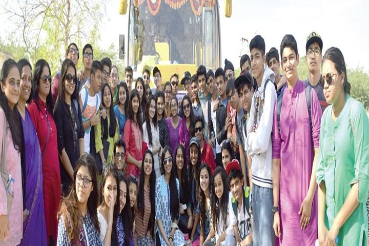 Jamnabai Narsee International School-Students with Teachers